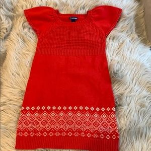 Old Navy Holiday Sweater Dress Size S (6-7)
